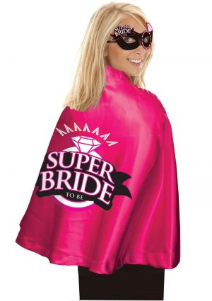Super Bride Cape and Mask Set Pink/Black