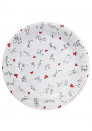 Candy Prints Dirty Dishes Stick Figure Style Paper Plates 7 Inches 8 Each Per Pack