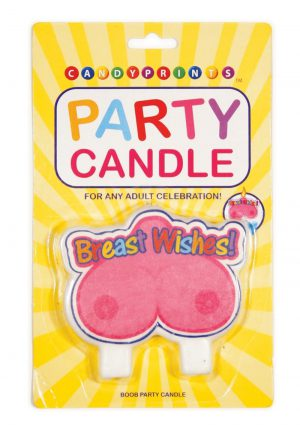 Candy Prints Breast Wishes Boob Party Candle