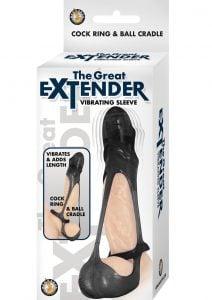 The Great Extender Vibrating Sleeve - Black