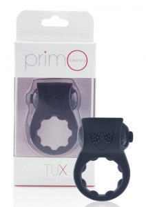 Primo Tux Silicone Vibrating Ring - Black