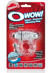 O Wow Vibrating Ring - Clear