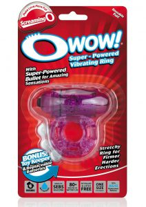 O Wow Vibrating Ring - Purple
