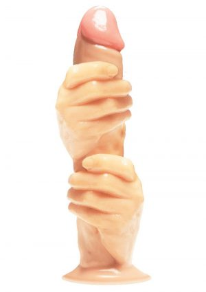 The 2 Fisted Grip 12in Dildo - Vanilla