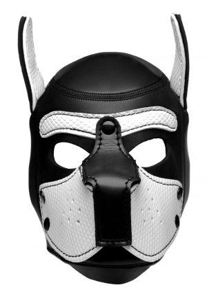 Master Series Neoprene Puppy Hood - Black and White