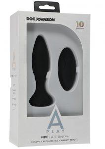 A-play Vibe Begin Plug W/remote Blk