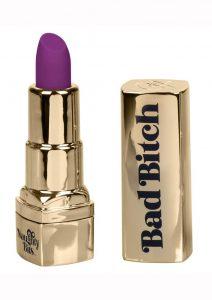 Naughty Bits Bad Bitch Lipstick Bullet Vibrator - Purple