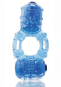 The Big O 2 Vibrating Double Ring - Blue