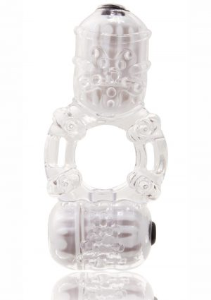 The Big O 2 Vibrating Double Ring - Clear
