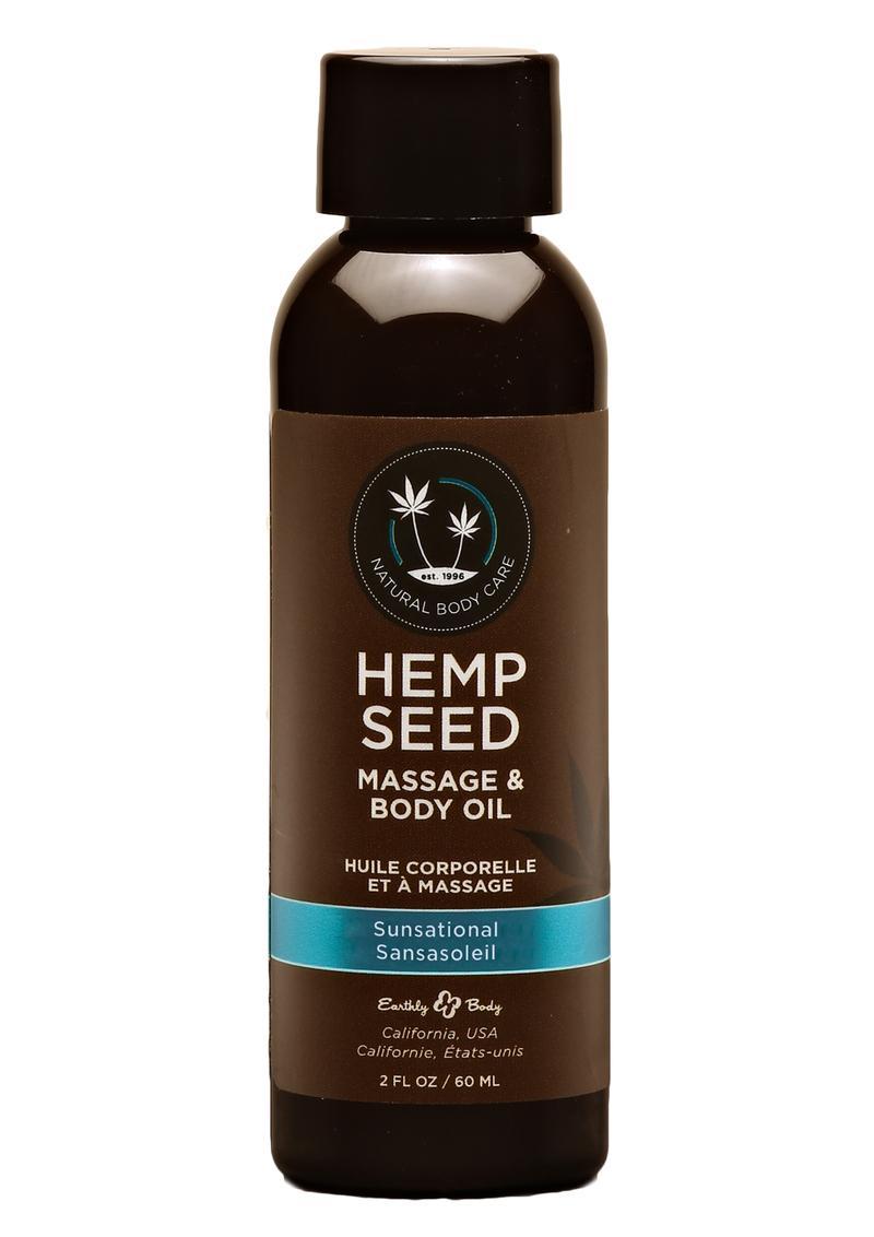 Hemp Seed Massage Oil Sunsation Vegan 2oz