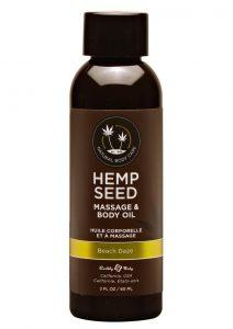 Earthly Body Hemp Seed Massage And Body Oil Beach Daze 2oz