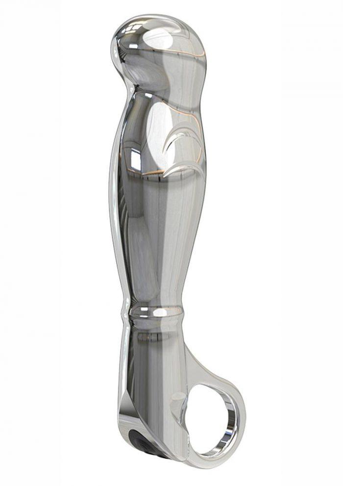 Nexus Fortis Aluminum Rechargeable Vibrating Massager - Silver
