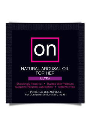 On For Her Arousal Ultra Oil Single Use Ampoule