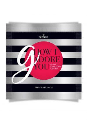 How I Adore You G-Spot Enhancement Cream Single Use Pillow Packet 6ml
