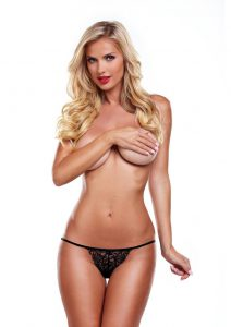 Secrets Lace Panty And Love Egg Rechargeable With Remote Control - Black