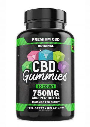 Hemp Bombs CBD Gummies 750mg Potency 50ct Bottle