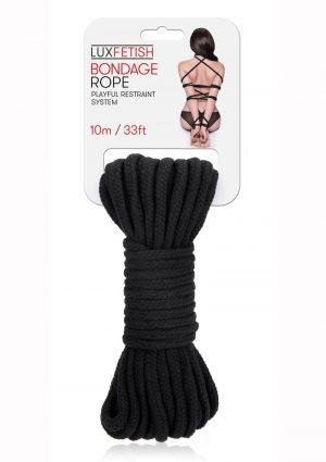 Lux Fetish Bondage Rope 10m - Black