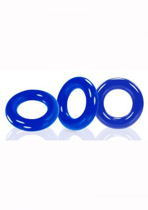 Oxballs Willy Rings 3pk Blue