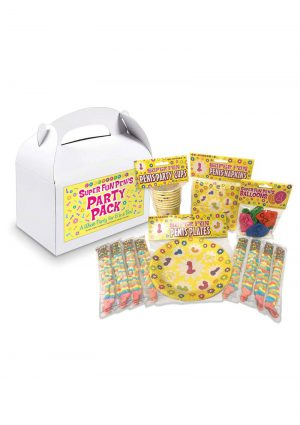 Super Fun Penis Party Pack For 8 - White/Black