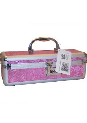 Lockable Vibrator Case Medium Pink