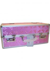 Lockable Vibrator Case Large Pink
