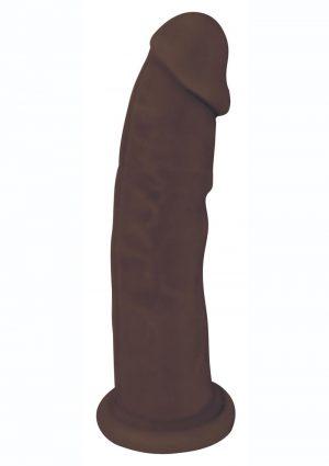 FleshStixxx Dual Density Silicone Bendable Dildo 8in - Chocolate