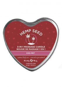 Earthly Body Hemp Seed 3 in 1 Heart Massage Candle Kiss-Met 4oz