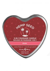 Earthly Body Hemp Seed 3 in 1 Heart Massage Candle Muah 4oz