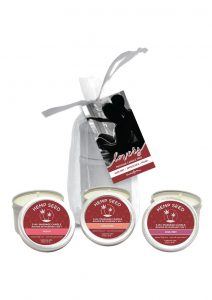 Earthly Body Hemp Seed Valentine Massage Candle Trio Set 2oz