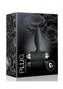 Petite Sensations Silicone Vibrating Anal Plug - Black