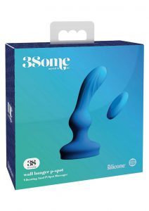 3Some Wall Banger Silicone Rechargeable Remote Control P-Spot Anal Vibrator - Blue