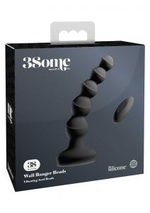 3Some Wall Banger Silicone Rechargeable Remote Control Anal Beads - Black
