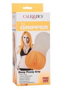 The Gripper Deep Pussy Grip Masturbator - Pussy - Orange