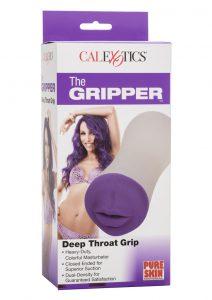 The Gripper Deep Throat Grip Masturbator - Mouth - Purple/Frost