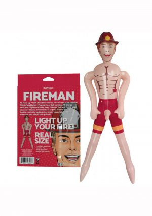 Fireman Blow-Up Doll 5.5ft - Vanilla