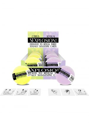 Sexplosion! Bath Bombs (6 Per Display)
