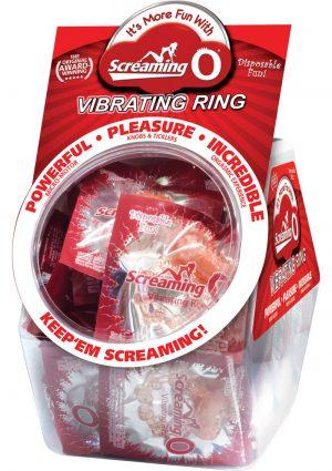 Screaming O Vibrating Ring Candy Bowl 48 Per Display