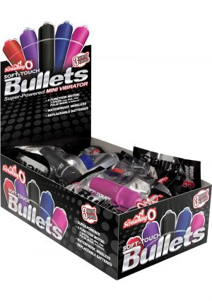 Scream O Soft Touch Bullets 3+1 Speed Mini Vibrator 20 Each Per Display Assorted Colors