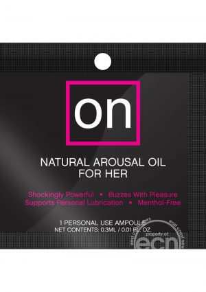 Sensuva On Natural Arousal Oil For Her .3ml Fishbowl (75 Per Bowl)