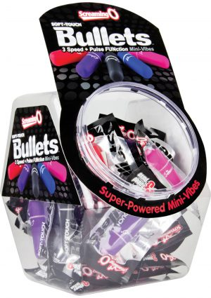 Soft Touch Bullets Waterproof Assorted Colors 40 Each Per Bowl