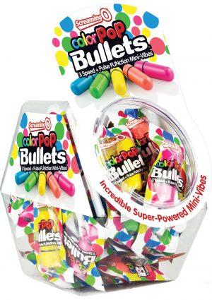 Color Pop Bullets Waterproof Assorted Colors 40 Each Per Bowl