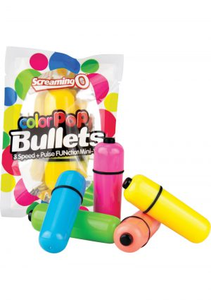Color Pop Bullets Waterproof Assorted Colors 20 Each Per Display