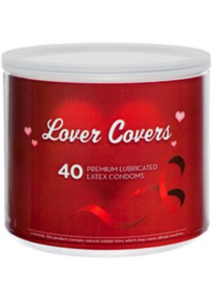 Lover Covers Mixed Lubricated Latex Condoms 40 Each Per Tin Can