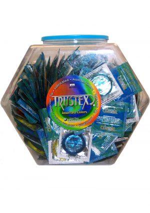 Trustex Lubricated Condoms Assorted Colors (288 Per Bowl)