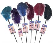 Sportsheets Ostrich Feather Tickler (6 Pack) - Assorted Colors