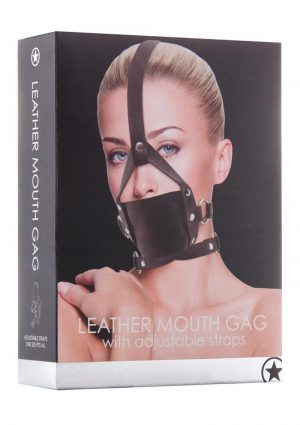 Ouch! Leather Mouth Gag - Black