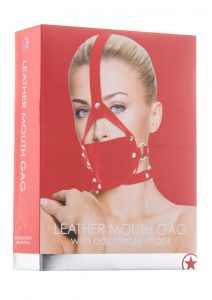 Ouch! Leather Mouth Gag - Red