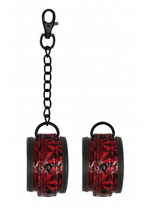 Ouch! Luxury Ankle Cuffs - Burgundy