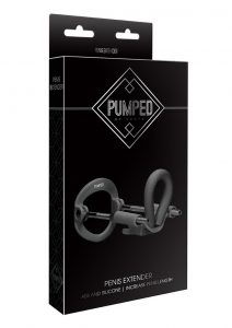 Pumped Silicone Penis Extender - Black
