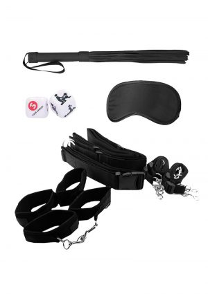 Ouch! Kits Bondage Belt Restraint System 8pc - Black